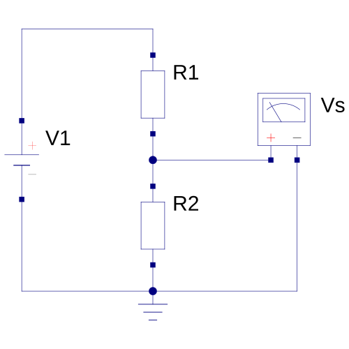 Circuito de divisor resistivo
